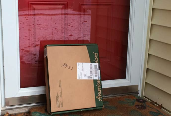 An unattended package on your front porch is an invitation for theft.  (Photo by Steven Jack)