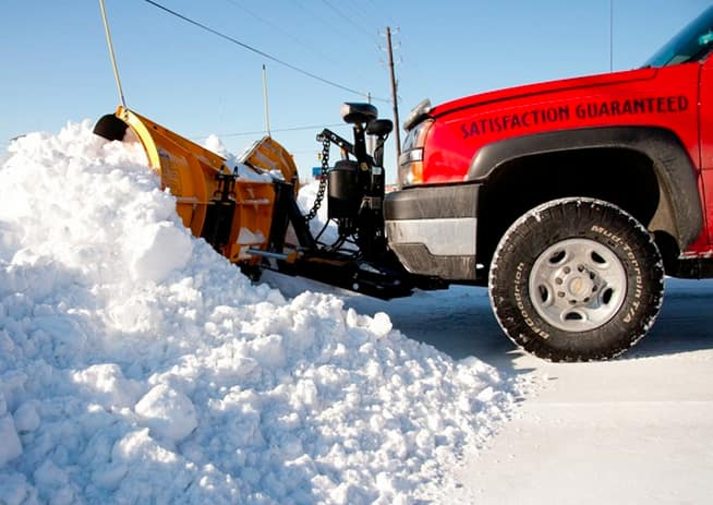 Thieves are targeting snow plow blades in the Chicago area and selling them online.  (Photo by Steve C. Mitchell)