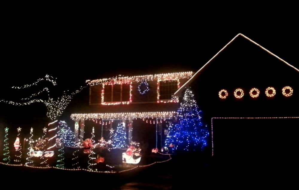 Elaborate holiday light displays such as this one can bring Christmas cheer to any neighborhood. (Photo by Meranda Adams)