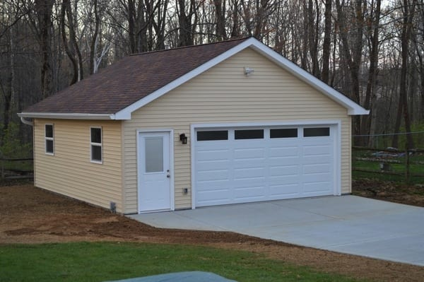 The oversized two-car garage addition cost $37,500. (Photo courtesy of Angie's List member Tom Harrison)