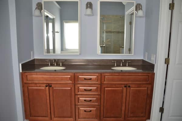 Angie's List member Barbara Del Greco hired JK Best Construction in Loveland, Ohio, to completely remodel her bathroom. (Photo courtesy of Del Greco)