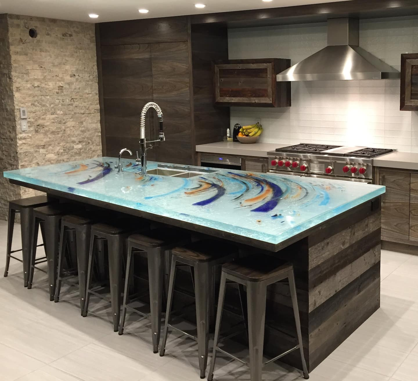 This Crystal Colored Countertop Also Serves As Art. (Photo Courtesy Of  ThinkGlass) View Details