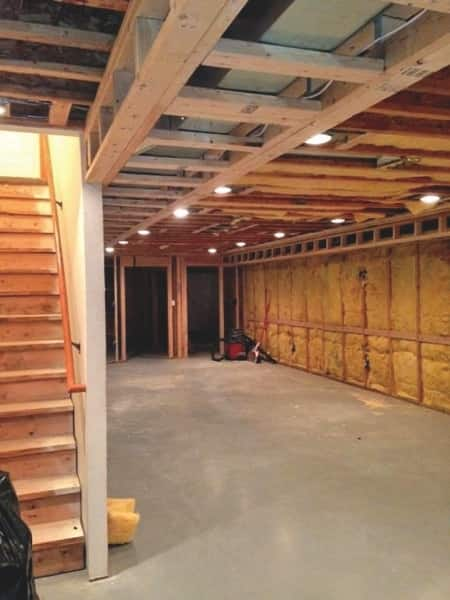 Double A Remodeling of Middlebury, Ind.  worked on this basement, shown before the work was completed. (Photo courtesy of Steven G.)