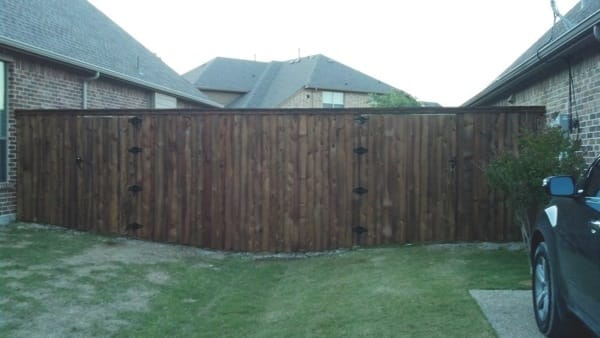 This 8-foot board-on-board fence gives Chad May the privacy he desires. (Photo courtesy of Chad May)