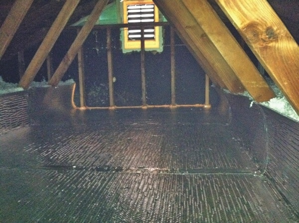 One of two attics Quality Insulation insulated for Dan Lucas. (Photo courtesy of Dan Lucas)