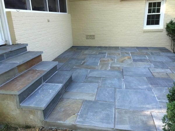 Bright Group Consruction replaced Anthony Mazzoccoli's 54-year-old patio with one made of flagstone. (Photo courtesy of Angie's List member Anthony Mazzoccoli of Alexandria, Va.)