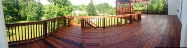 A panorama view of the completed deck shows the stunning result.
