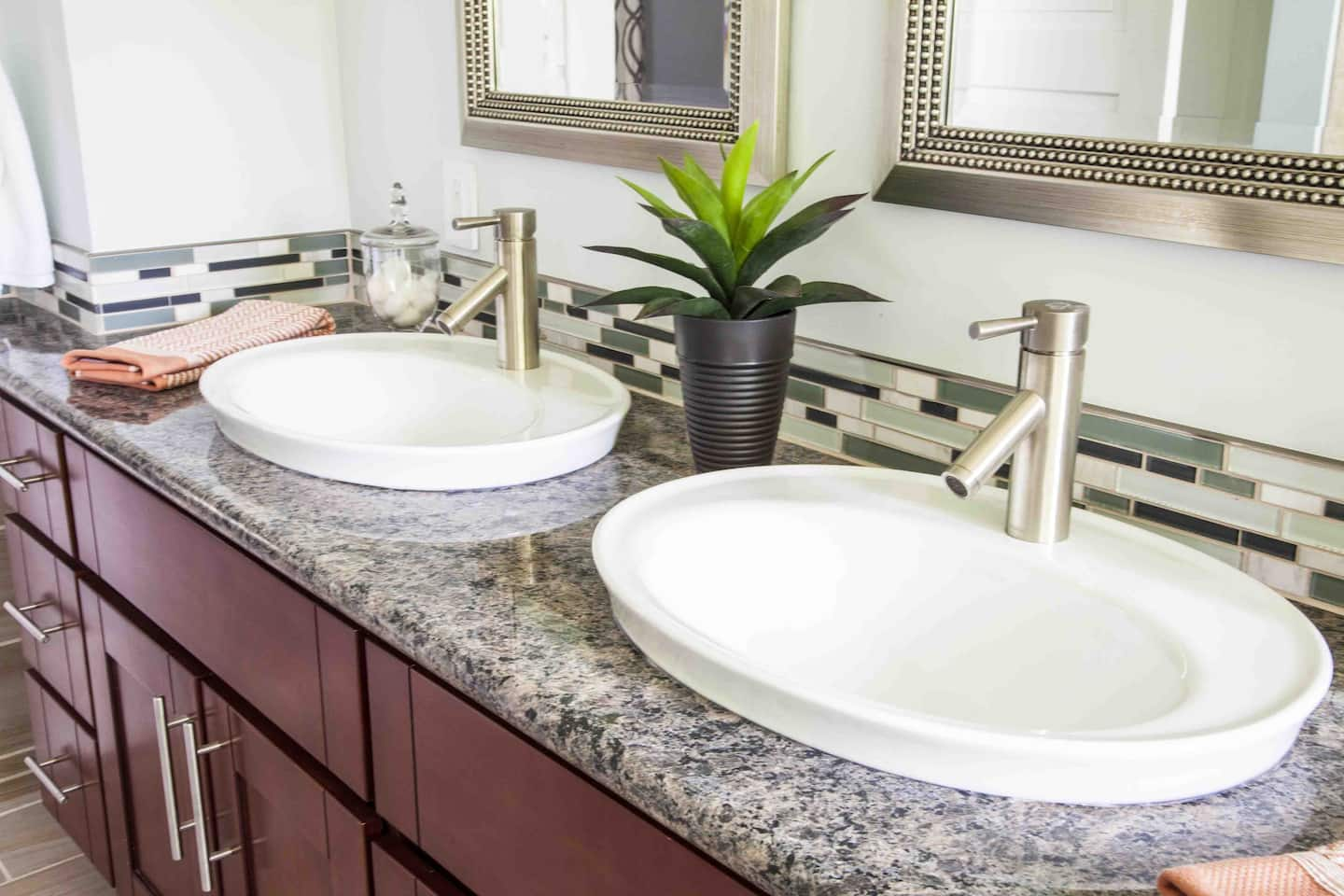dual bathroom vanity with highrim dropin sinks. Dual Bathroom Sink  Elegant Idea Of Bathroom Vanities And Sinks