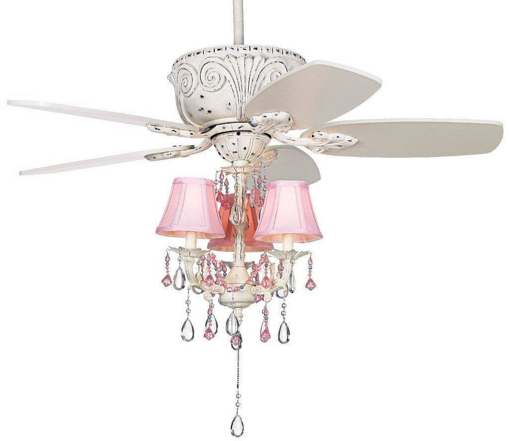 ceiling fan accented with a chic chandelier