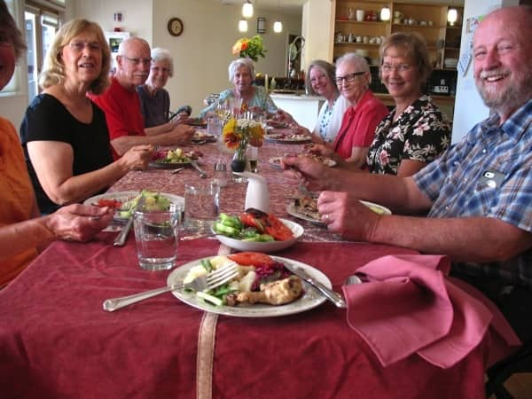 Residents of Wolf Creek Lodge meet three to five times a week for a shared meal. (Photo courtesy of Bob Miller)