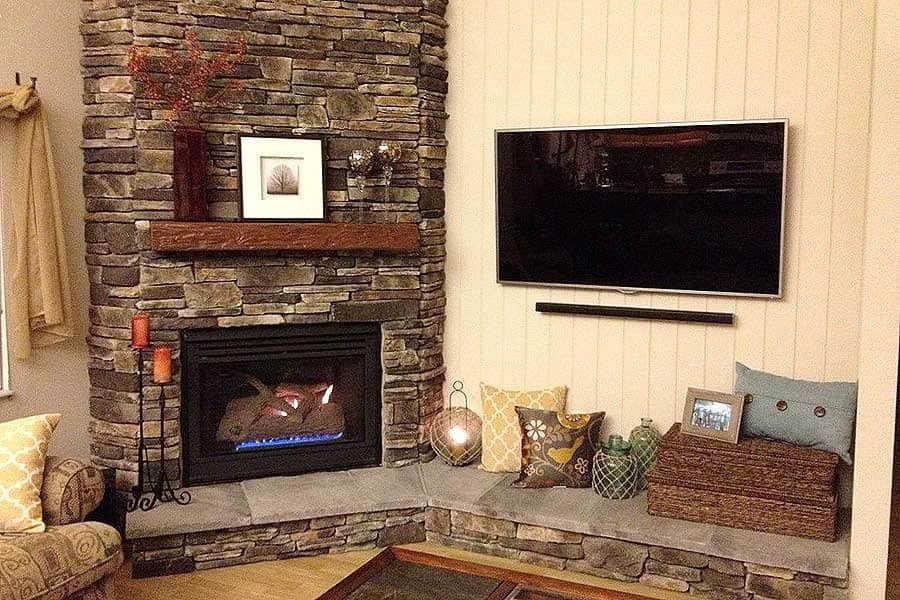 fireplace with stone veneer