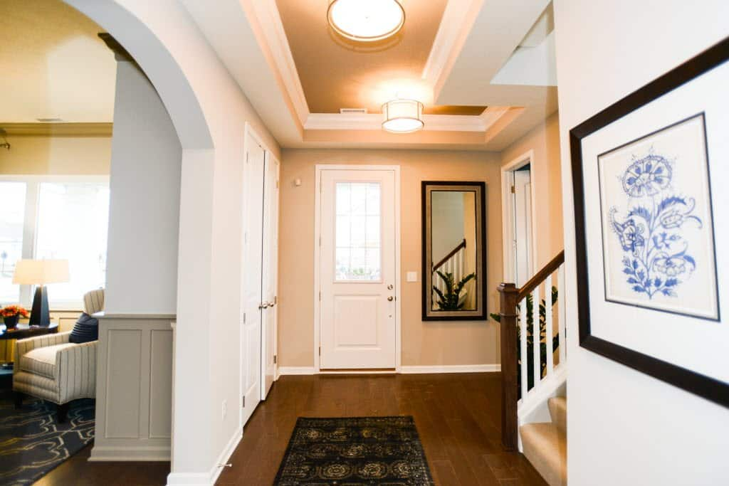 The entryway to a home