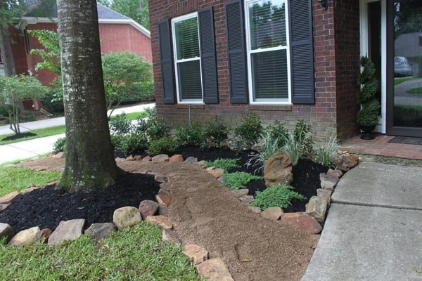 The homeowner says the project also included the installation of a small pond. (Photo courtesy of Angie's List member Andrea Reid of Kingwood, Texas)