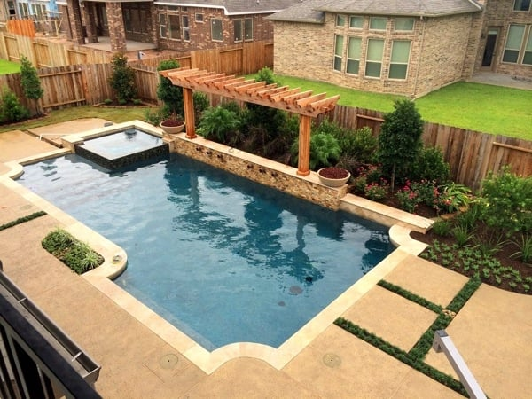 The landscape design included over 50 plants and several trees. (Photo courtesy of Angie's List member Matt G. of Spring, Texas)