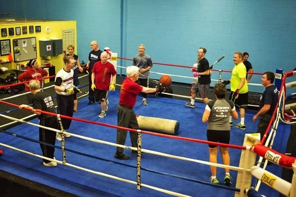 boxing ring for Parkinson's Disease patients (Photo by )