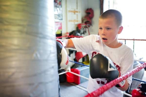 kid boxing (Photo by )