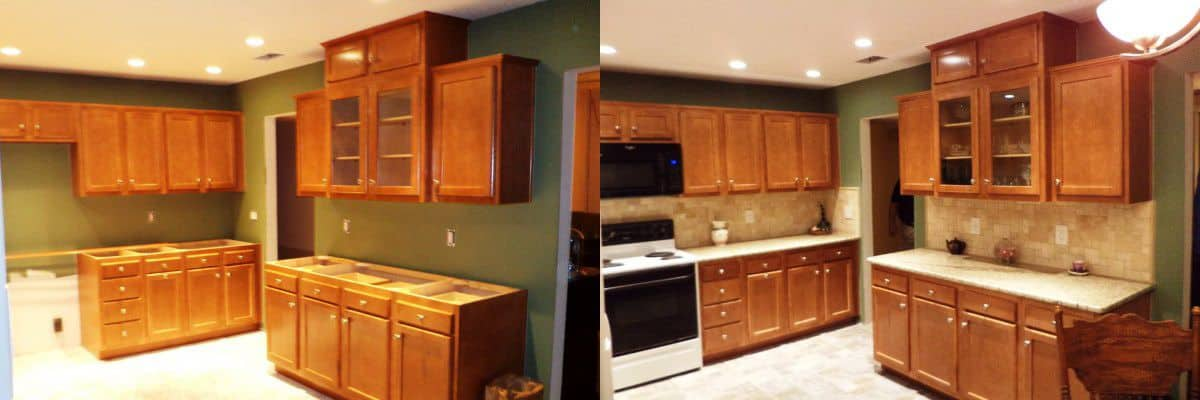 """""""[The company] gave us numerous options for countertops, but in the end, we went with another supplier for a granite unit,"""" says Mclean. (Photo courtesy of Angie's List member David Mclean of Jacksonville, Fla.)"""