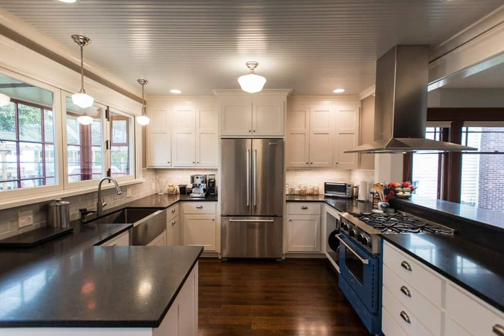 kitchen remodel with soft-close cabinets