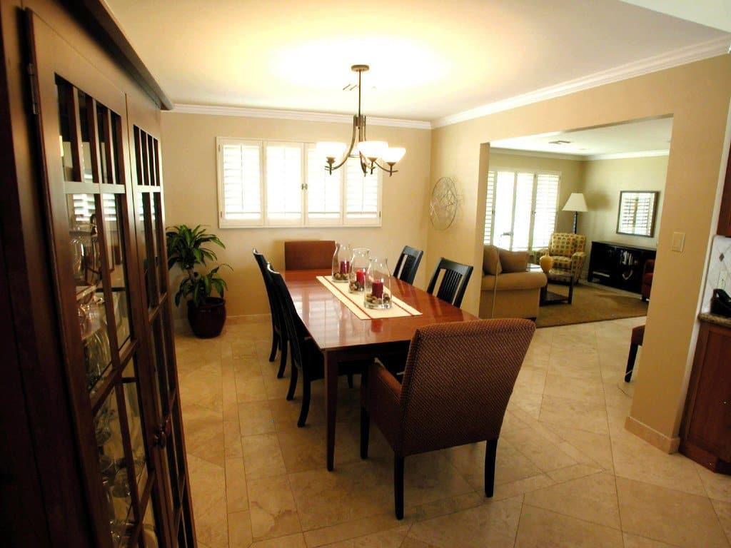 Kitchen tile floor design