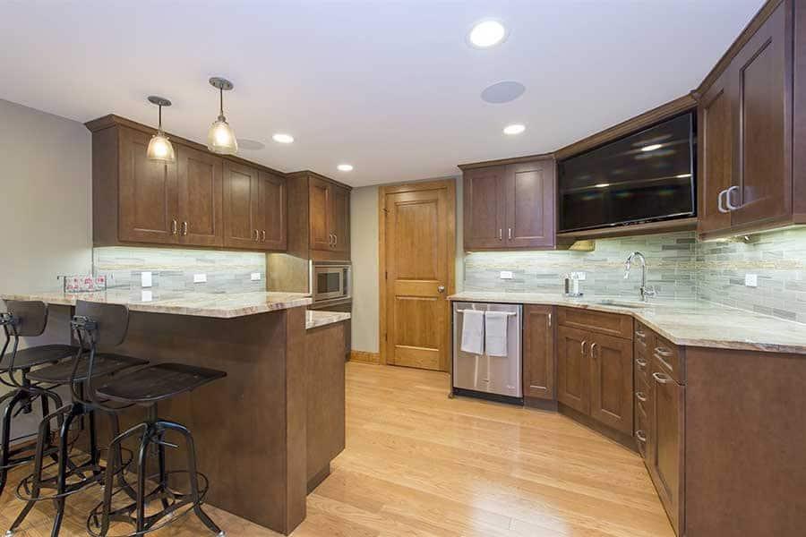 basement kitchen and wet bar