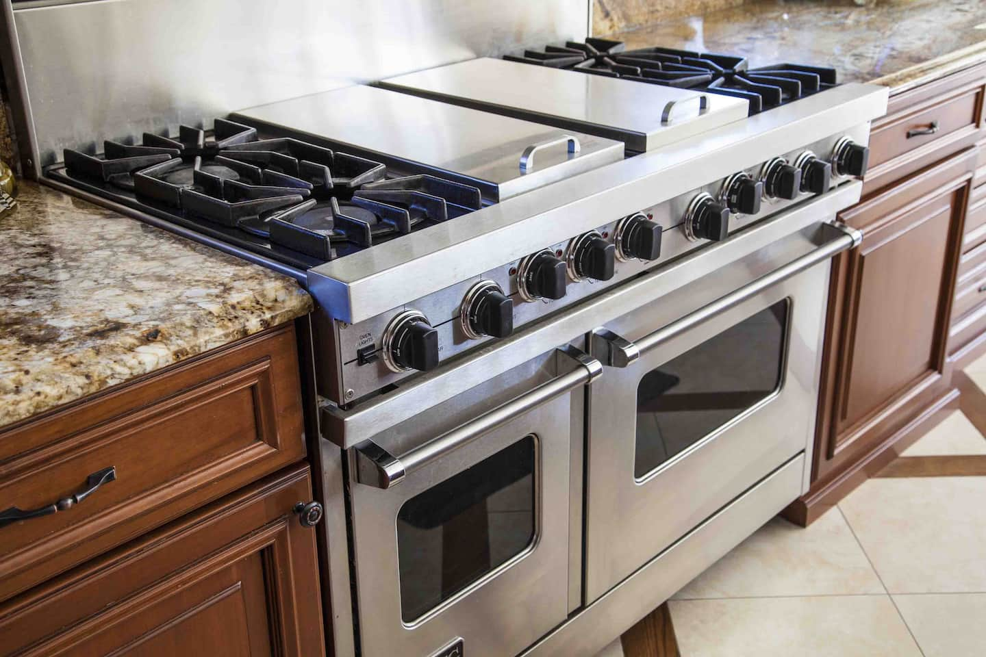 marble countertops and stainless steel appliances