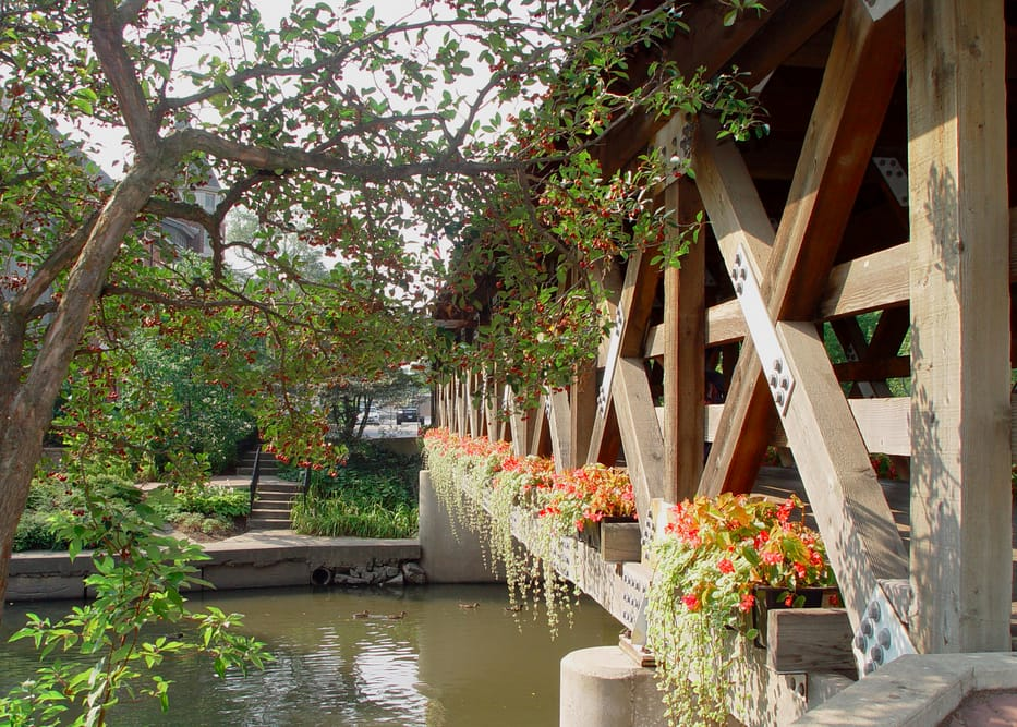 Naperville's downtown Riverwalk was cited as one of the city's best features in Money Magazine's Best Places to Live 2014 rankings. (Photo courtesy of the city of Naperville)