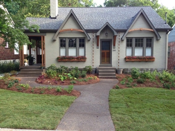 This homeowner designed the plans for his new walkway. (Photo courtesy of Angie's List member Jonathan S. of Nashville, Tenn.)