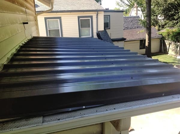 Atlantic Roofing & Siding replaced a 66-square-foot metal roof for Norfolk, Virginia, member Chris L. (Photo courtesy of member)