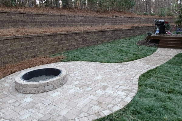 You can install paving stones yourself, but be prepared to dedicate a couple of days to the project, says Wood. (Photo courtesy of Angie's List member Steve H. of Charlotte, N.C.)