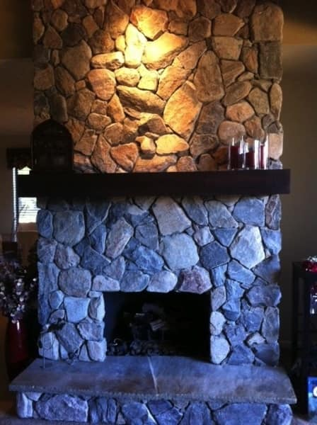 Shapira Builders installed the mantel the member had purchased online. (Photo courtesy of Angie's List member Jeanne Fryman of Scottsdale, Ariz.)