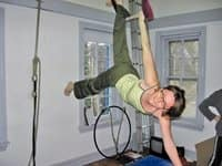 Photo courtesy of Michele Lempa Michele Lempa says Philadelphia School of Circus Arts helped improve her flexibility and balance.