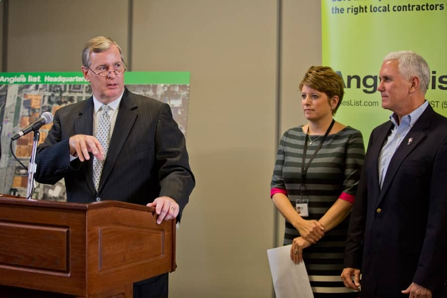 Mayor Greg Ballard and Angie's List (Photo by )
