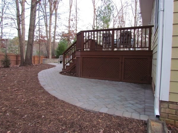Patio Pavers Plus built a quality patio at an affordable price for Cary member Snively. (Photo courtesy of Elizabeth Snively)