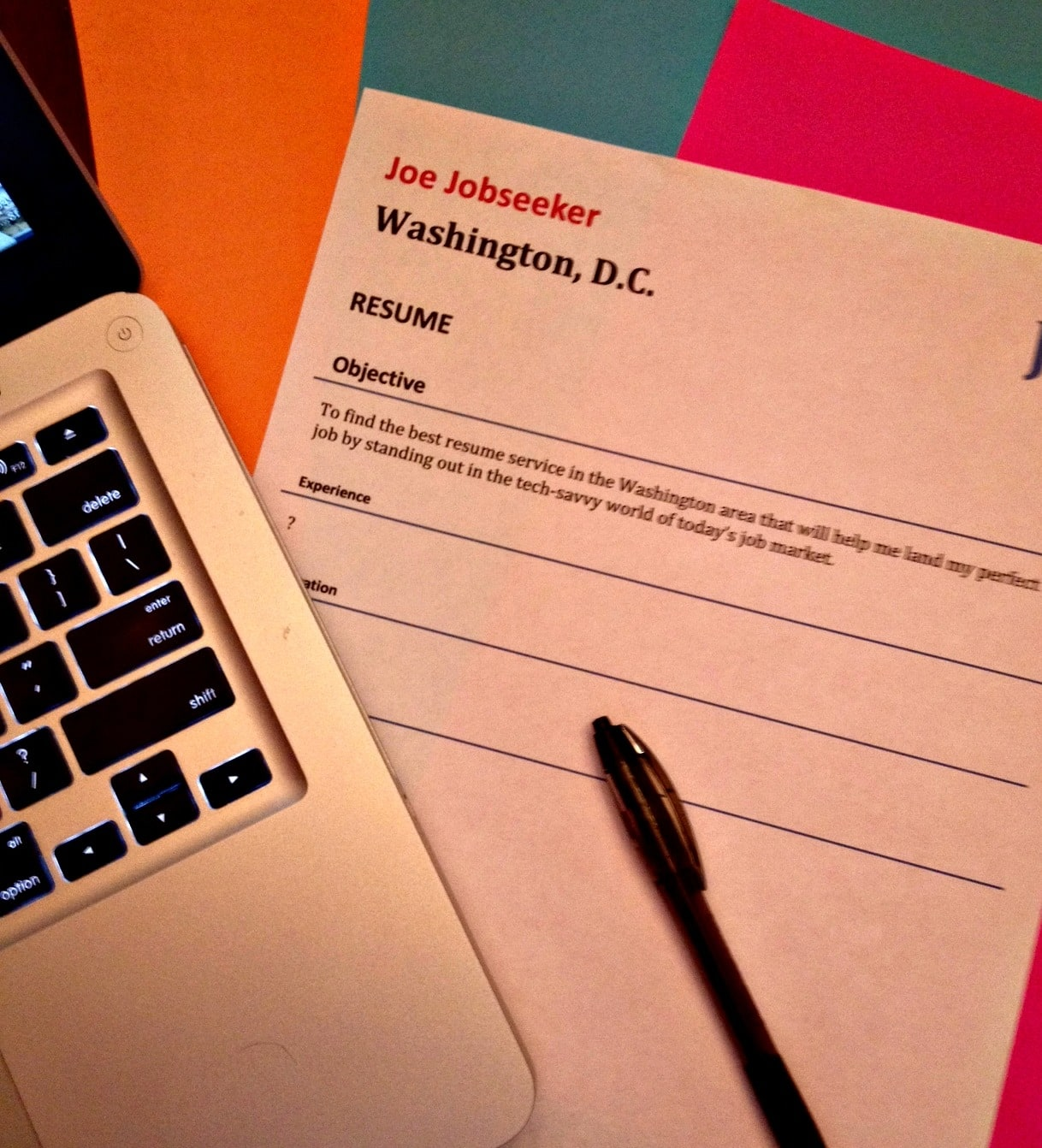 D.C. resume (Photo by Jason Hargraves)