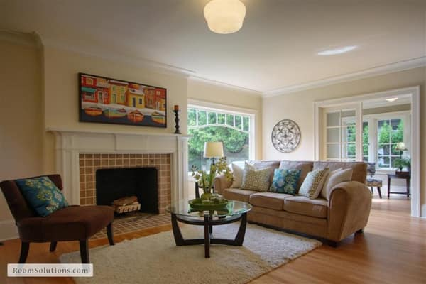Light will help sell your home and will make it feel more inviting. (Photo courtesy of Room Solutions Staging)