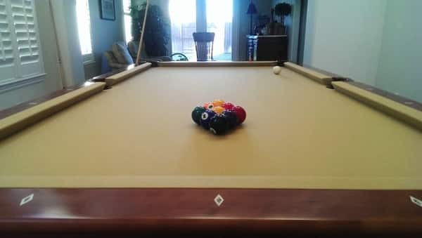The pool table had to be relocated to its new home. (Photo courtesy of Angie's List member John Guillory of Lincoln, Calif.)