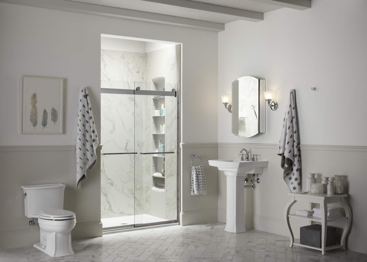 inspirational bathroom shower designs angie s list instead of colorful shower tiles homeowners are reverting back to neutral tones photo courtesy of kohler