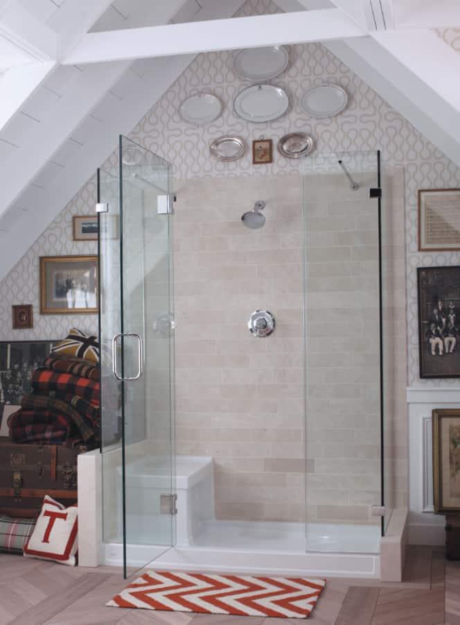 frameless pivot shower door
