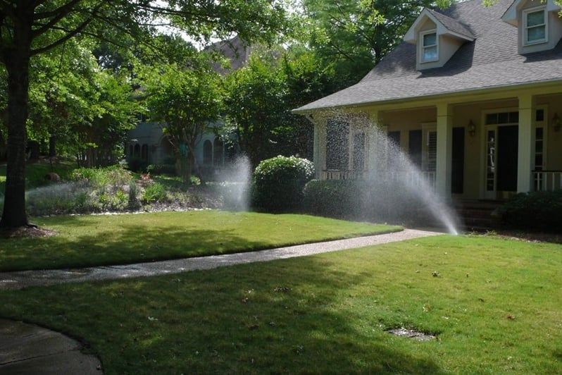 The type of grass you have will help determine when your sprinkler system should run and for how long, says McClard. (Photo courtesy of Angie's List member Peter S. of Jackson, Miss.)