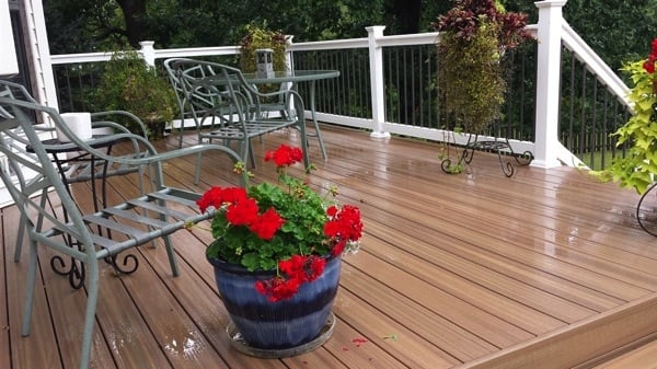 """This St. Louis-area homeowner calls her new deck """"beautiful."""" (Photo courtesy of Angie's List member Stacey L., of St. Peters, Mo.)"""