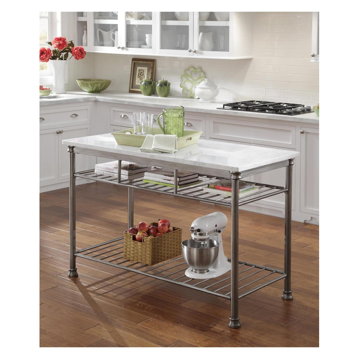 Small White Kitchen Island: Rolling Kitchen Islands And Kitchen Island Carts