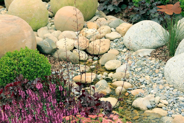Rock Garden With Stream
