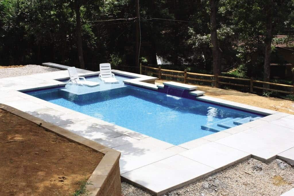 Pool With Elevated In Lounge Area Seats
