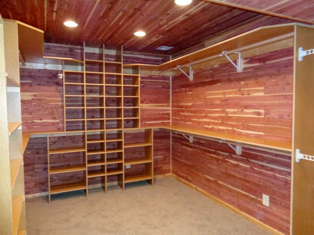 Perfect Large Cedar Closet With Shelving