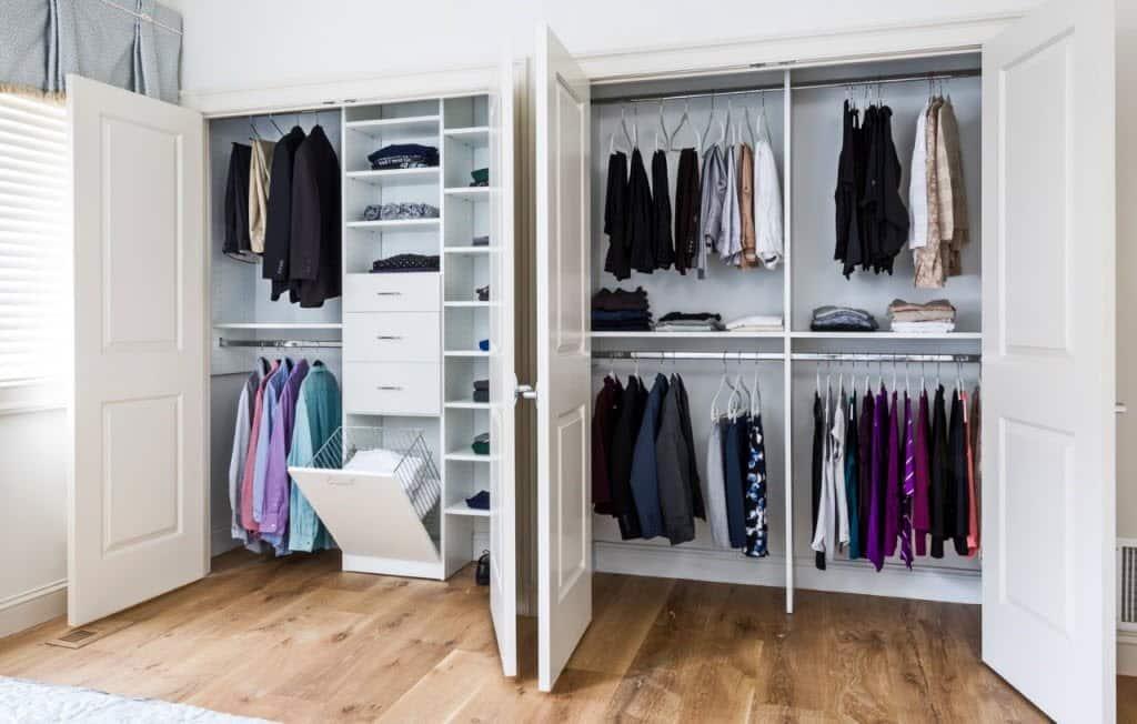 Double Closets, Closet Storage