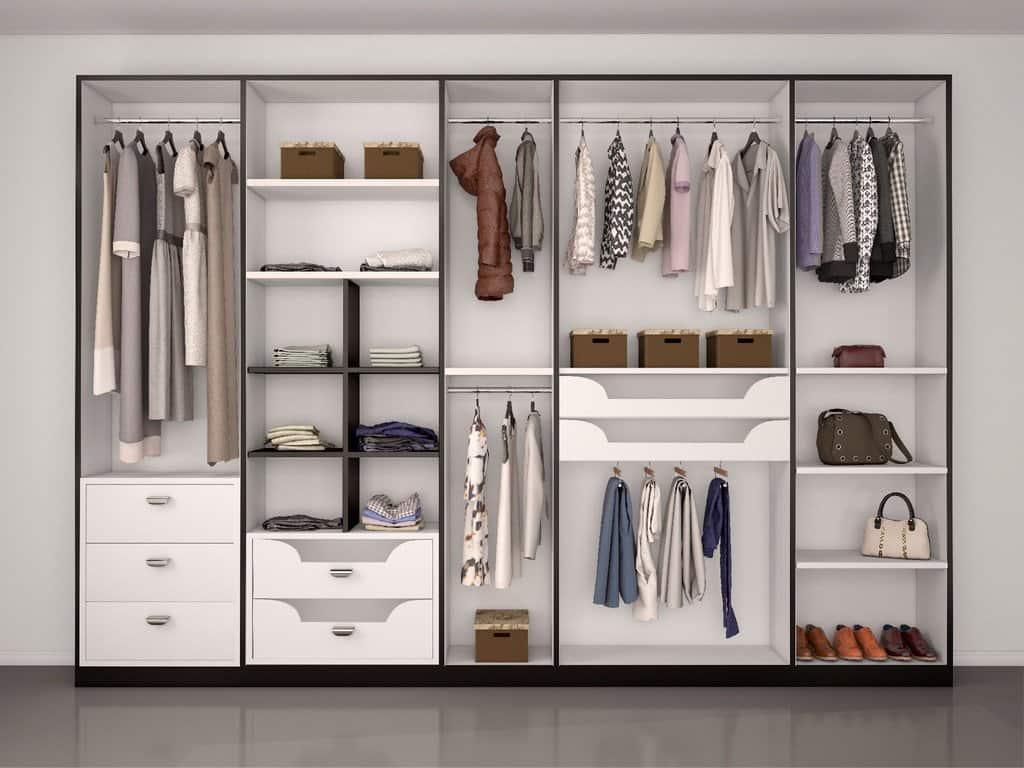 Open Closet, Modern Bedroom, Closet Storage