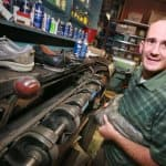 Eckstein Shoe store manager Jim Coffman