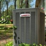 Lennox heat pump unit in yard