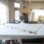 Scott Underwood repairing roman blinds
