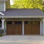 garage doors with windows